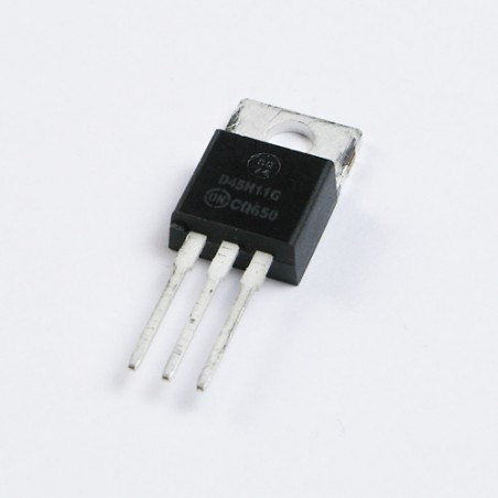 D44H11 NPN power transistor. The picture is showing D45H11